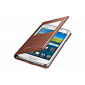Samsung Original Galaxy S5 Mini S View Cover Rose Gold