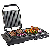 VonShef Electric Grill, Panini Press and Griddle Plate - 1600W