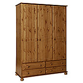 Altruna Oslo 3 Door 4 Drawer Wardrobe - Pine