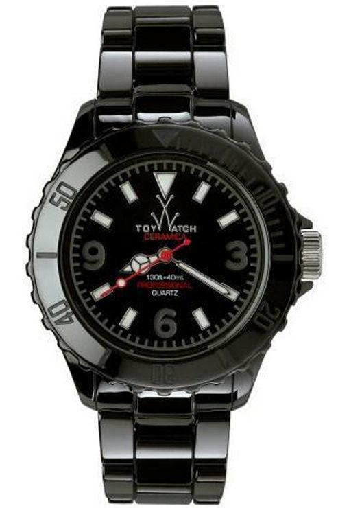 ToyWatch Gents Ceramic Black Bracelet Watch CM02BK