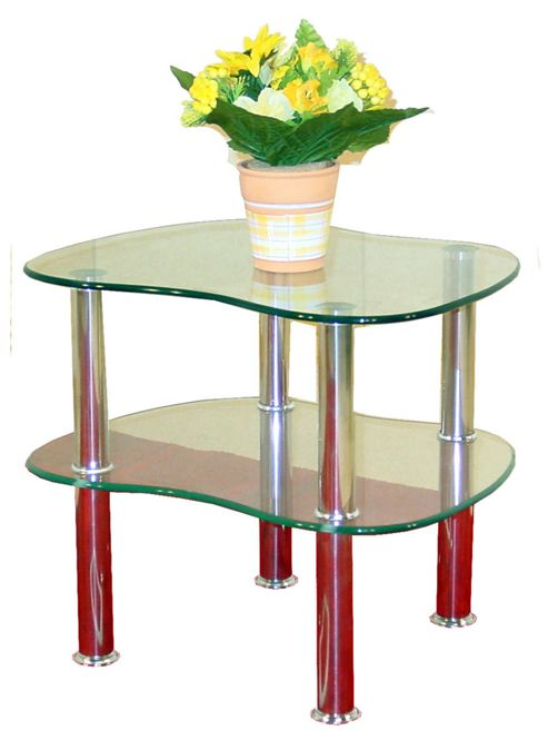 Hudson Clear Glass Side Table