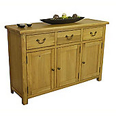 New Oak Large 3 Drawer 3 Door Sideboard