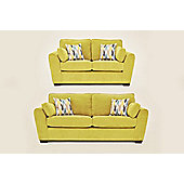 Sofia 3+2 Sofa Set Olive