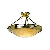 Kansa Lighting Semi Flush Mount in Polished Brass