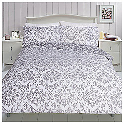 Broken Damask Print Duvet Set, Single