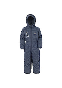 Trespass Kids DripDrop All In One Padded Waterproof Rain Suit - Navy