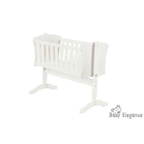 Baby Elegance Anna Swing Crib - White