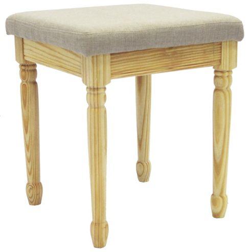 buy strand solid wood dressing table stool pine grey. Black Bedroom Furniture Sets. Home Design Ideas