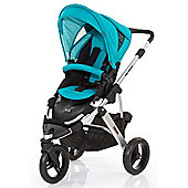 ABC Design Cobra Pushchair - Silver & Coral