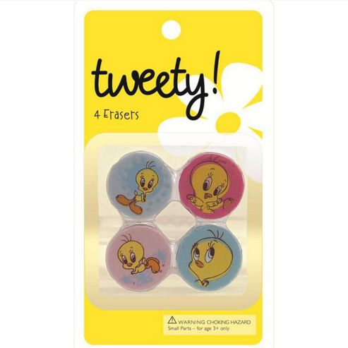 BB Designs Tweety Bird Set of 4 Erasers