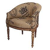 Derry's Hessian Armchair