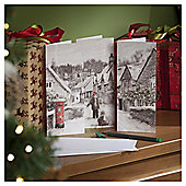 Winter Town Scene Christmas Cards, 24 pack