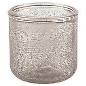 Recycled Sanblast Tealight Holder Grey