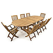 Balmoral 8 Seater Double Extending Teak Set - Outdoor/Garden table and Chair set.