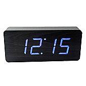 Click Clock Slab Clock - Black/Blue