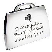 Personalised Flowers Teacher Handbag Compact Mirror
