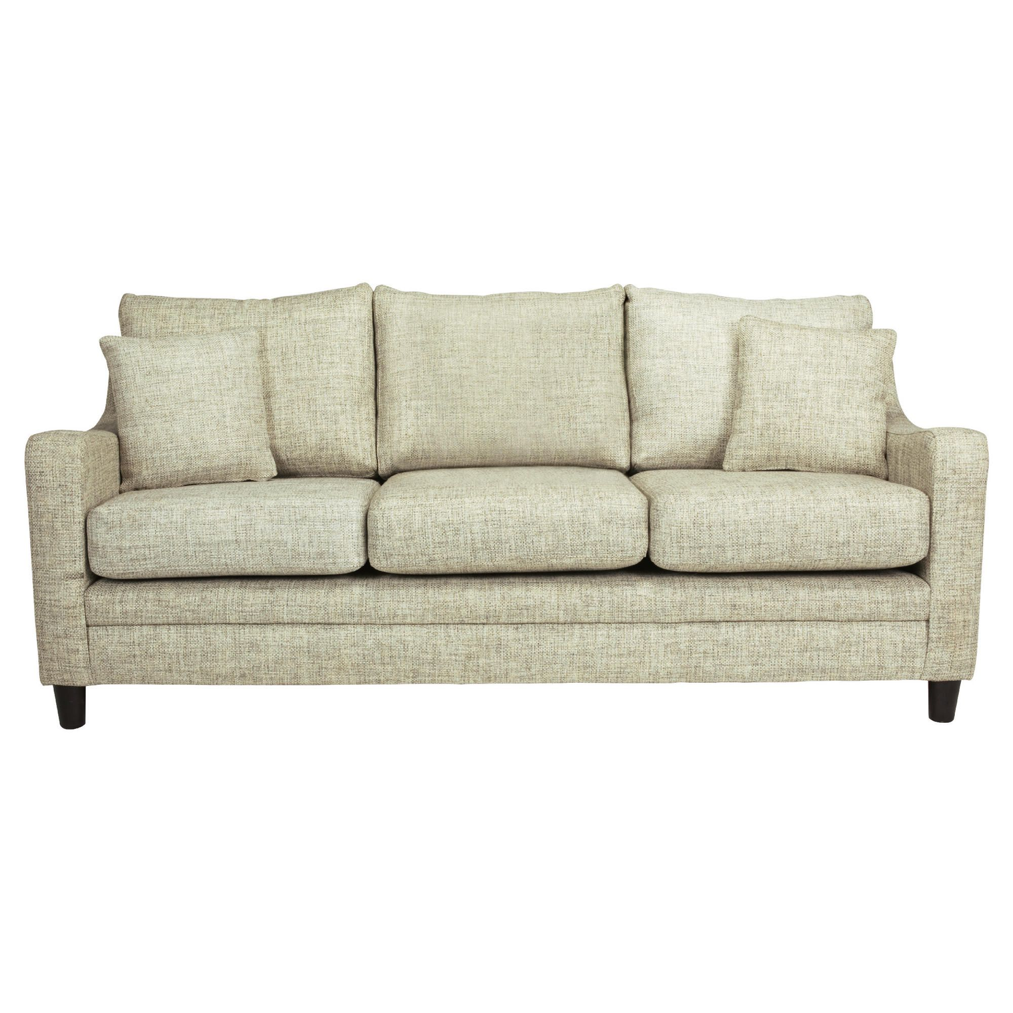 Buckingham Fabric Large Sofa in Biscuit at Tescos Direct