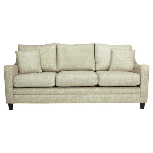Buckingham Fabric Large 3 Seater Sofa In Biscuit