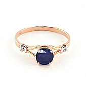 QP Jewellers Diamond & Sapphire Aspire Ring in 14K Rose Gold