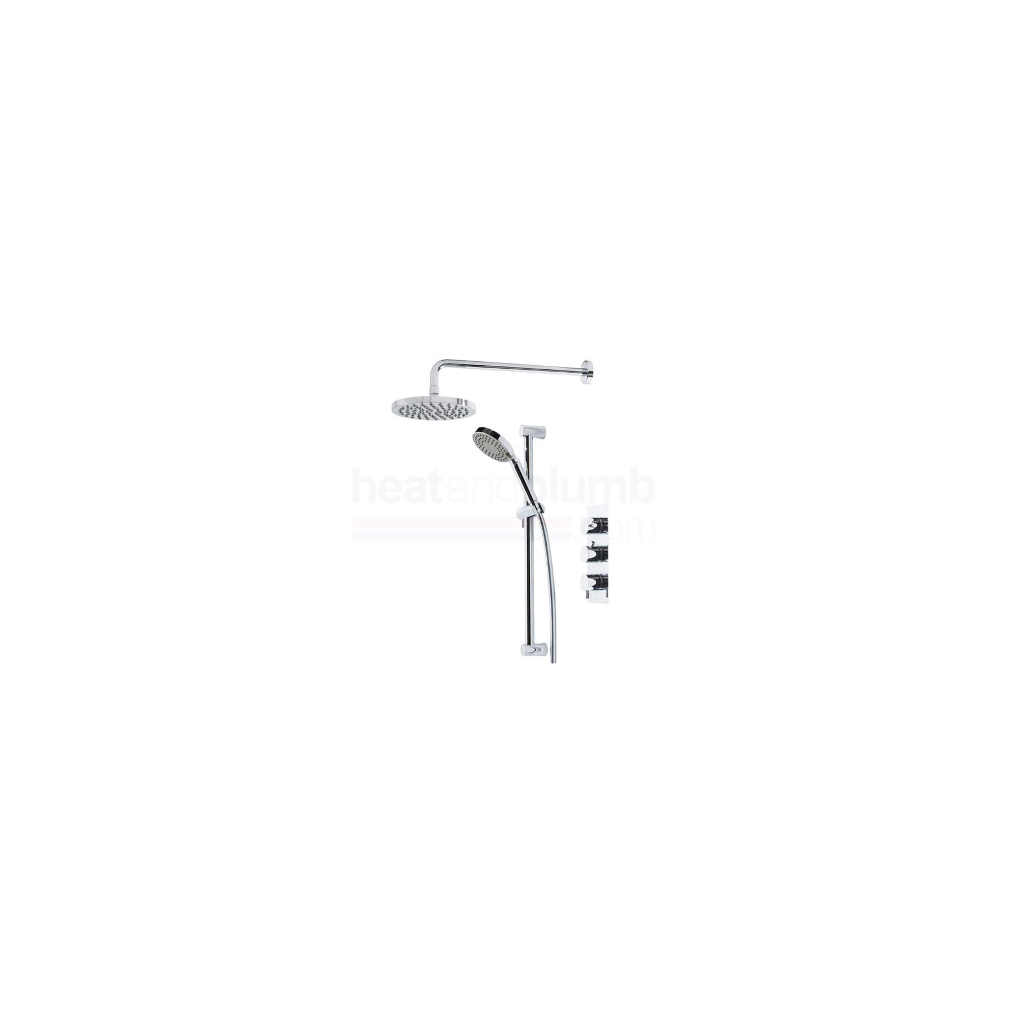Tavistock Kinetic Thermostatic Triple Concealed Shower Valve with Round Shower Head & Multi Function Handset at Tesco Direct