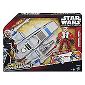 Star Wars Hero Mashers Episode VII Resistance X-Wing and Resistance Pilot - Action Figures