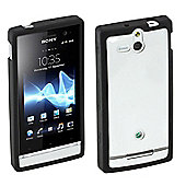 Sony Original Rubber Case Hard for Sony Xperia U - Black