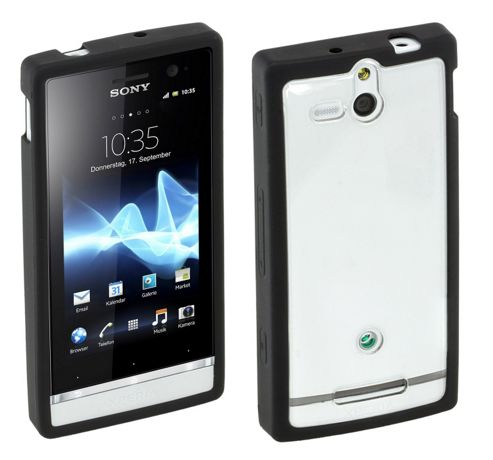 Sony Original Rubber Case Hard for Xperia U - Black