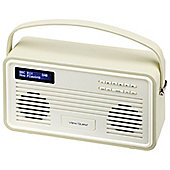 View Quest Retro ColourGen DAB+/FM Radio with iPod Dock (Cream, 30 Pin)