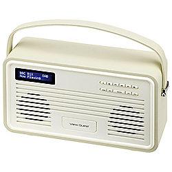 View Quest Retro ColourGen DAB+/FM Radio with iPod Dock (Cream, 30 Pin)