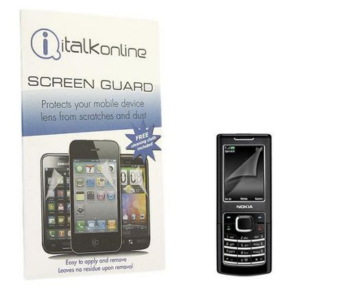 iTALKonline S-Protect LCD Screen Protector and Micro Fibre Cleaning Cloth - For Nokia 6500 Classic