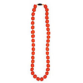 Jellystone Pea Teething Necklace in Carrot