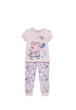 Peppa Pig Floral Pyjamas - Pink