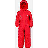 Trespass Kids DripDrop All In One Padded Waterproof Rain Suit - Red