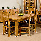 Elements Brunswick Solid Oak Dining Extending Dining Set