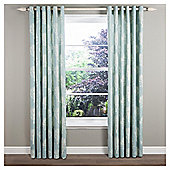 Woodland Lined Eyelet Curtains - Duck egg