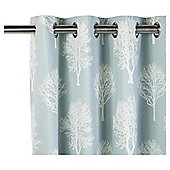 Woodland Ready Made Eyelet Curtains - Fully Lined - 4 Colours Availble - Duck egg