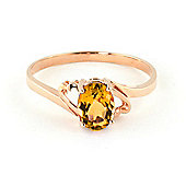 QP Jewellers 0.90ct Citrine Classic Desire Ring in 14K Rose Gold