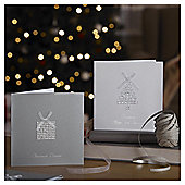 Luxury Diamante Christmas Cards, 10 pack