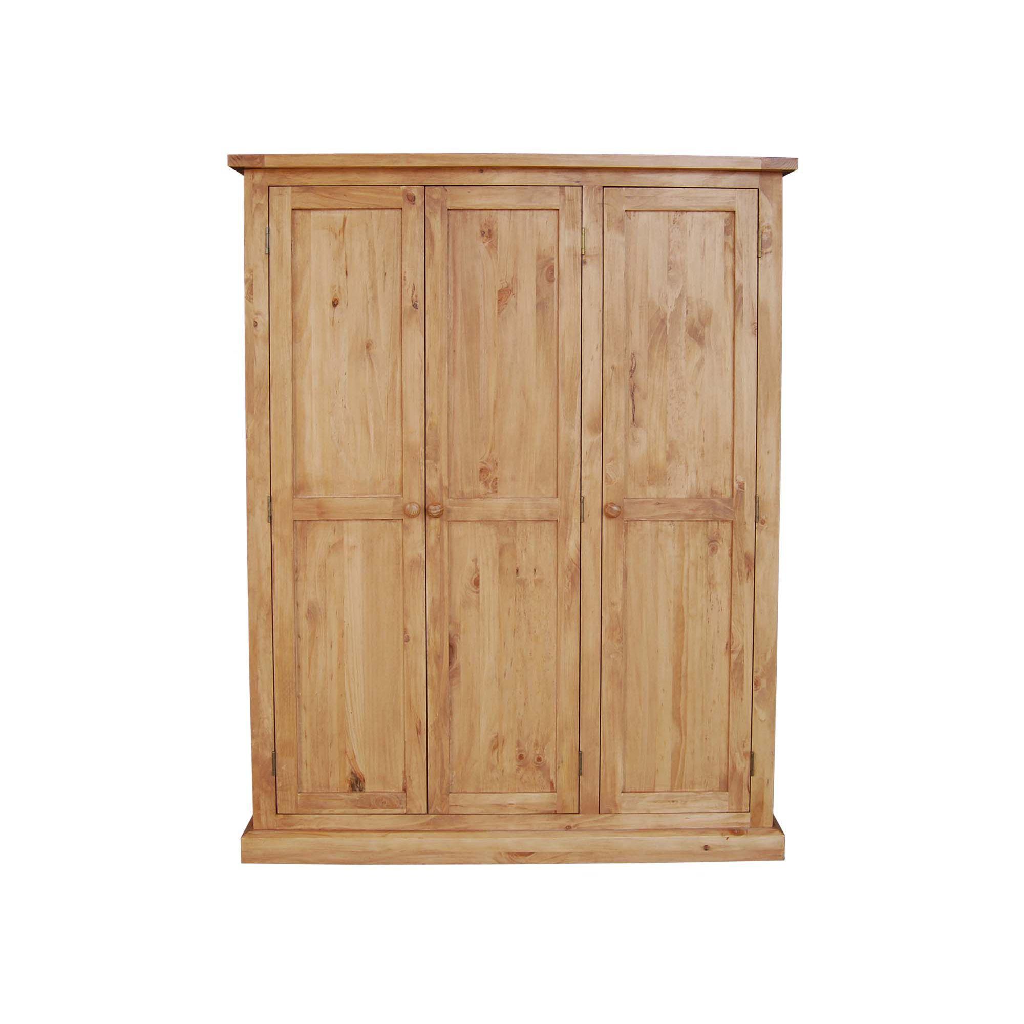 Furniture Link Devon Three Door Wardrobe in Pine at Tesco Direct
