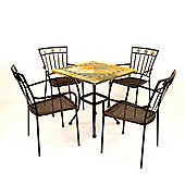 Europa Leisure Vinaros Square Standard Dining Set with Murcia Chairs - 4 Seat