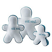 Planet Dog Slobber-Wick Old Soul Buddies Dog Toy in Silver - Medium (20.32cm H)