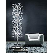 Metal Lux Astro Ten Light Floor Lamp with 24k Gold Body - Black Glass