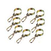 "Pack of 8 Swing Hook ""Around"" Hangers for Round Wood Swing Beams"