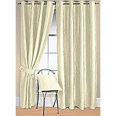 Jazz Ready Made Eyelet Curtain - Ivory