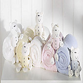 Lollipop Lane Fleece & Teddy, Chalk White