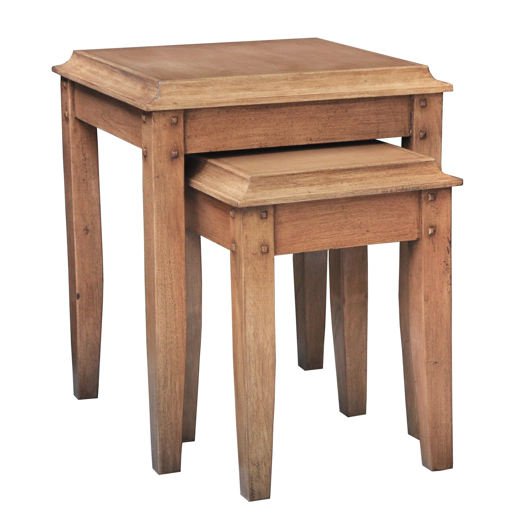 Lock stock and barrel Shell Knowle Nesting Table in Mahogany at Tesco Direct
