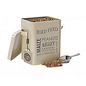 Gardening Gift Bird feed tin in cream