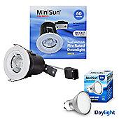 MiniSun Die Cast Twist & Lock 5W Daylight LED GU10 Fire Rated Downlight in White