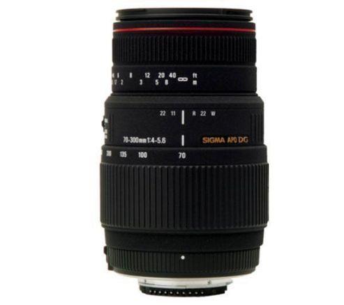 Sigma 5A8955 70-300mm F/4-5.6 APO DG Macro Telephoto Zoom Lens - Nikon Fit