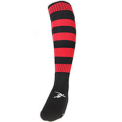 Precision Training Hooped Pro Football Socks Mens Black/Red
